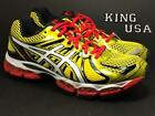 Men's Asics GEL-Nimbus 15, T3B0N, Running Athletic Shoes, Yellow Pearl White Red