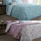 Dreams N Drapes Chepstow Floral Quilted Bedspread, 195x229Cm