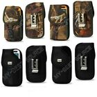 Rugged Canvas Pouch Holster Belt Clip FOR Large Cell Phones To Fit Speck Case