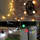 12 LED SOLAR POWERED FESTOON GLOBE PARTY FAIRY STRING OUTDOOR GARDEN LIGHTS 6M