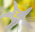 Pearlescent Starfish wedding favor mark wine glass cards table name card laser