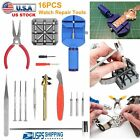 16pc Watch Repair Tool Kit Band Pin Strap Link Remover Back Opener US SHIPPER