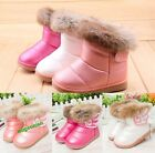 Hot Baby Kid Girls Warm Fur Winter Snow Boots Toddler Leather Shoes 10 Sizes