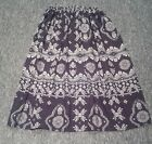 LADIES PLUS SIZE SKIRT black/white pattern HANDMADE IN UK size 30 32 34 36 38 40