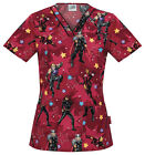 Avengers Cherokee Tooniforms V Neck Scrub Top 6807 C MACK Black Widow