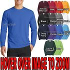 Mens Moisture Wicking Long Sleeve T-Shirt Soft Poly/Cotton Tee S-XL 2X, 3XL, 4XL image