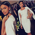 New Design Sexy Women Ladies Cape Bodycon Cocktail Party Evening Pencil Dress