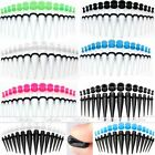 28pc Mixed Gauge Acrylic Taper Stretcher + Silicone Ear Tunnels Plugs Expander