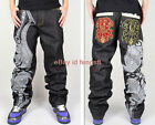 Men's fashion mens jeans hip-hop skateboard embroidery Street dance pants New