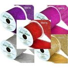 Christmas Sparkley Glitter Wired Ribbon Width 63mm 5 Colours Listed