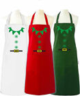 Christmas Elf Apron funny christmas apron no pocket one size Red, Green Costum