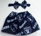 NFL Oakland Raiders Baby Girl Football Skirt and Matching Bow 0-12 months