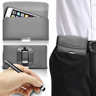Luxury Horizontal Belt Holster Clip & Stylus Pen For Samsung Gaalxy A3
