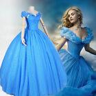 "Princess Cinderella Cosplay Costume Adult Women Prom Party Dress+28""Cosplay wig"