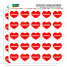 "1"" Scrapbooking Crafting Stickers I Love Heart Food S"