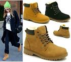 WOMENS LADIES FAUX FUR LACE UP GRIP SOLE WINTER SNOW ANKLE BOOTS SIZE 3-8