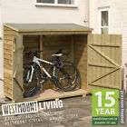 NEW SMALL WOODEN GARDEN BIKE SHED LOG STORE IN T&G SHIPLAP OR OVERLAP LOGSTORE