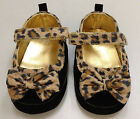 New Infant Baby Winter Girls Toddler Black Leopard Pattern Children Shoes BS01