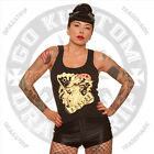 Dragstrip Clothing Girl Outlaw Rebel Girl Strappy vest Top Lucky 13 Hot Rod Bike