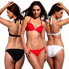Sexy Bikini Set Halter Strappy Underwire Push Up Padded Top Swimsuit Swimwear FO