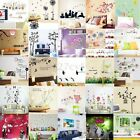 Removable Art Vinyl Quote Flower 3D Wall Sticker Decal Mural Home Kid Room Decor