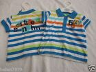 M&S striped gorilla/little sunshine t-shirt/top 0-3 & 6-9 months BNWT