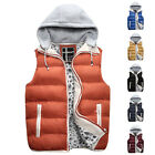 New STYLISH Men's Winter Warm Padded Bodywarmer Hooded Vest Coat Outwear Hoodies