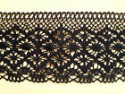 Cotton Lace BLACK  Cluny Premium Nottingham 11cm Craft/Costume/Goth