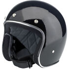 Biltwell Bonanza Solid Gloss Black 3/4 Motorcycle Riding Helmet