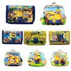 New Cute Despicable Me Minions Boys Wallet Trifold Zip Coin Purse Kids Party