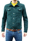 Mens NEW Jacket Coat Green Corduroy Denim short indie mod retro vtg Cord s m xl