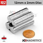 "Внешний вид - 12 50 100pc 12mm x 2mm 1/2"" x 1/16"" N52 Strong Rare Earth Neodymium Magnet Disc"