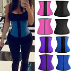 US Latex Rubber Slim Waist Tummy Girdle Belt Sport Body Shaper Trainer Corset FO