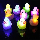 4x Rubber LED Flashing Color Duck Baby Children Kids Bath Time Bathing Fun Toy