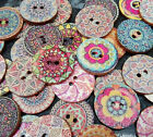 10/20/50 Mixed Wooden Round Buttons Vintage Rustic Celtic 20mm 2 holes