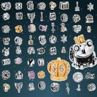 New Space Silver charms Bead Fit European Sterling 925 Silver Bracelet Chain US