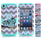 Owl Birds Hard & Soft Rubber Hybrid Impact Case Cover For iPod Touch 6th 5th Gen