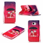 For Samsung Galaxy Phone Magnetic PU Leather Card Holder Wallet Stand Case Cover