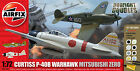 Airfix Curtiss P-40B & Mitsubishi Zero Glue, Paints,& Brushes 1:72 Models A50127