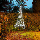 1.85M 250 LED PRE LIT FAIRYBELL OUTDOOR 3D CHRISTMAS DECORATION LIGHT UP TREE