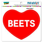 MAG-NEATO'S™ Car Refrigerator Vinyl Magnet I Love Heart Food A-B
