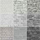 GREY BRICK EFFECT WALLPAPER SUITABLE FOR ANY ROOM