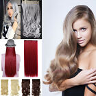 One Piece Clip in Hair Extensions 3/4 Full Head Natural Brown Black Blonde E8I