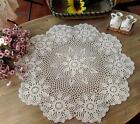 Beige Cotton 24'' 32'' 36''Round Handmade Crochet Lace Tablecloth Doilies G14