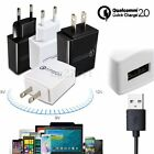 15W 5/9/12V Fast Charge QC 2.0 USB Travel Wall Charger Adapter for Phone Tablet