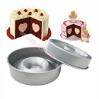 High Quality Anodized Al Heart Tasty Fill Round Cake  Baking Pan Tin Sets Mould