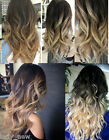 120G One Piece Natural Black Ombre Clip in Hair Extensions Two Tone
