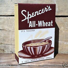 Vintage Original SPENCER'S ALL-WHEAT CEREAL Breakfast Box 1930s Art Deco NOS