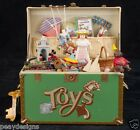 Enesco TREASURE CHEST OF TOYS Musical Animated Music Box SEE VIDEO Vtg 86