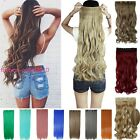 "Hot 24""26"" One Piece 5 Clip in Synthetic Natural Hair Extensions Long Curly qgr"